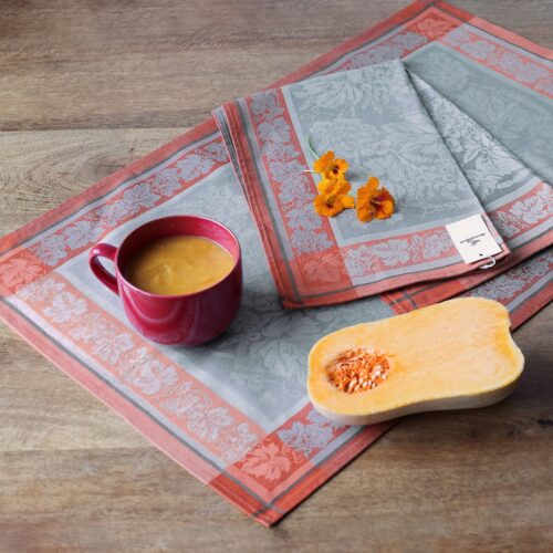 Dionysus Jacquard Tea Towel with Pumpkin