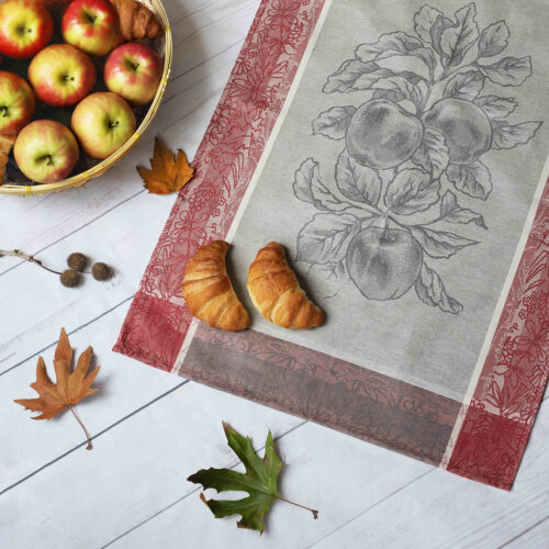 Eve-Jacquard-Tea-Towel-with-Apples-and-Autumn-Leaves