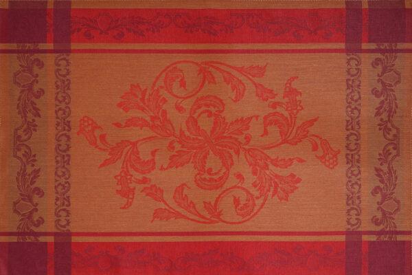 Helga Jacquard Tea Towel Rust